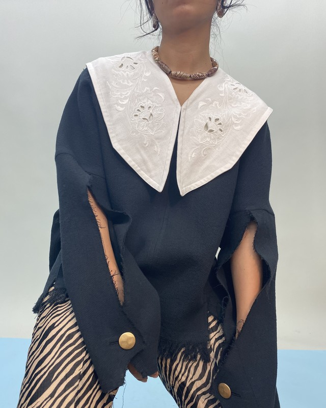 EMBROIDERY COTTON COLLAR