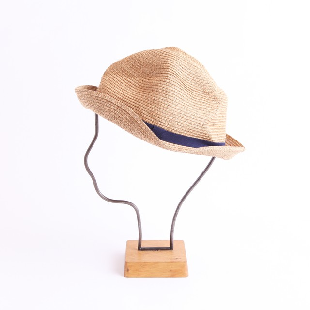 mature ha./BOXED HAT 105 mixbrown×navy