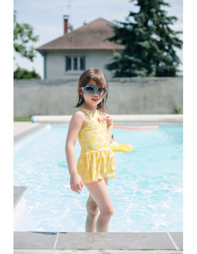 【20SS】ゾジオ(ZOZIO) Flareswimwear[S / M / L ]yellowdots  水着 スイムスーツ
