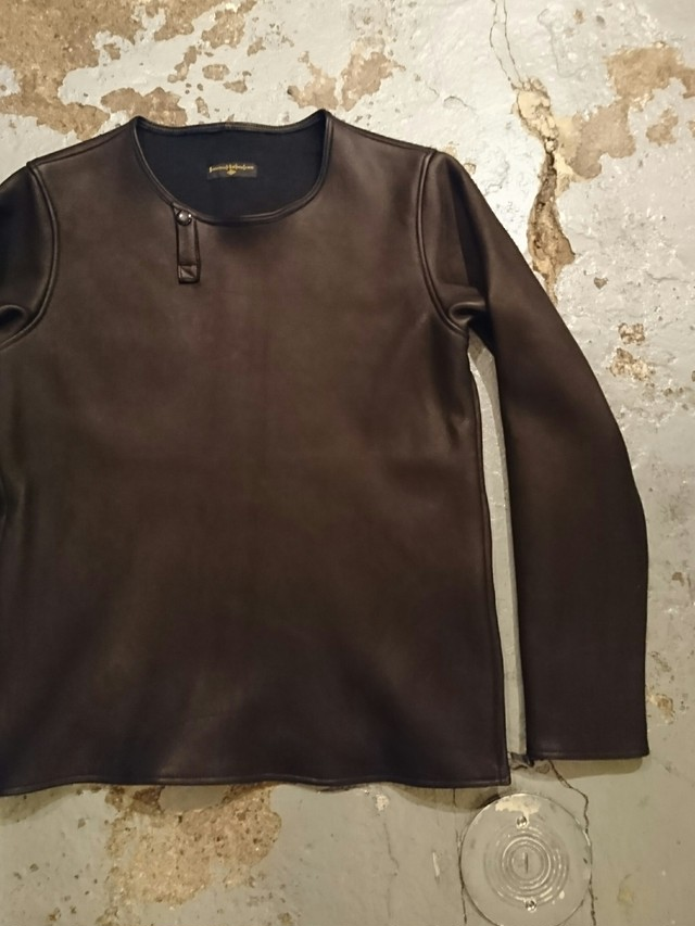 "BAA COSTUME MFG. ""MOLT DEERSKIN L/S TEE"" Black Color"