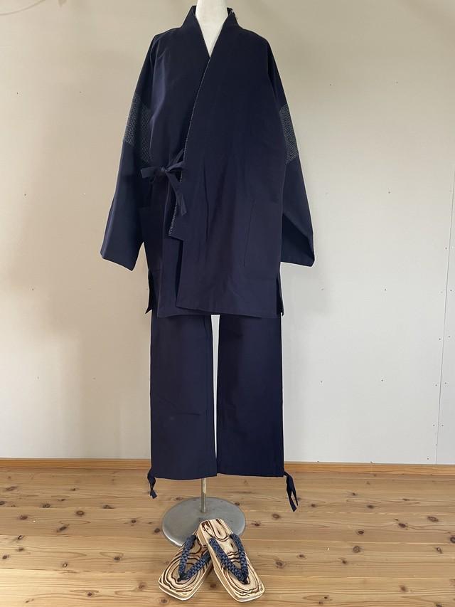 【父の日ギフト】久留米絣 作務衣5点セットLサイズ