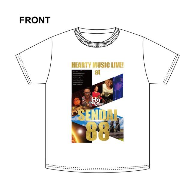 HEARTY MUSIC LIVE! at SENDAI 88 ライブTシャツ(通販専用予約券)
