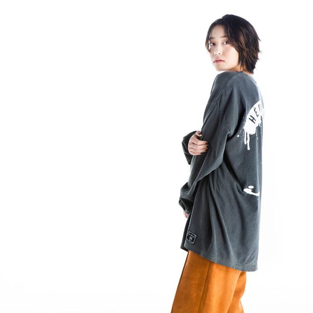 Garment Dyed Longsleeve T-shirt / Sumi