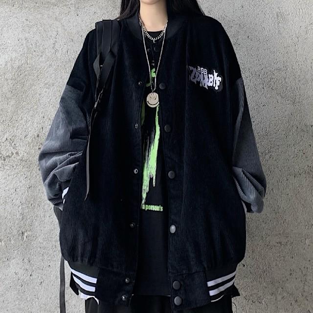 【アウター】合わせやすいゆるリラックス韓国系長袖スタンドネックジャケット35906598