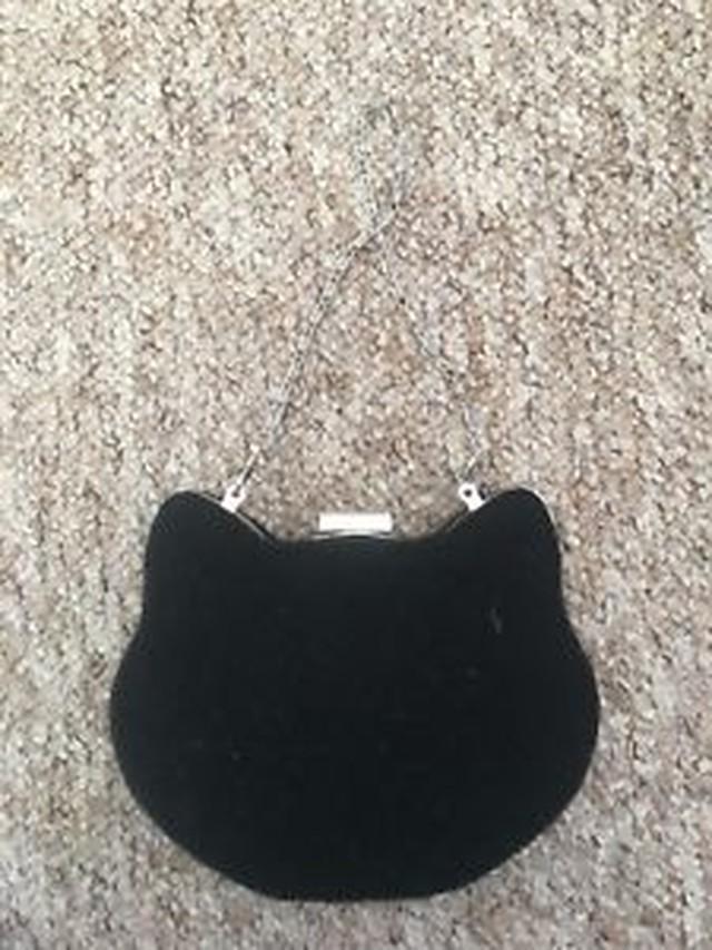 【送料無料】ハリスツイードクラッチイブニングバッグhandmade harris tweed cat shaped clutch evening bag