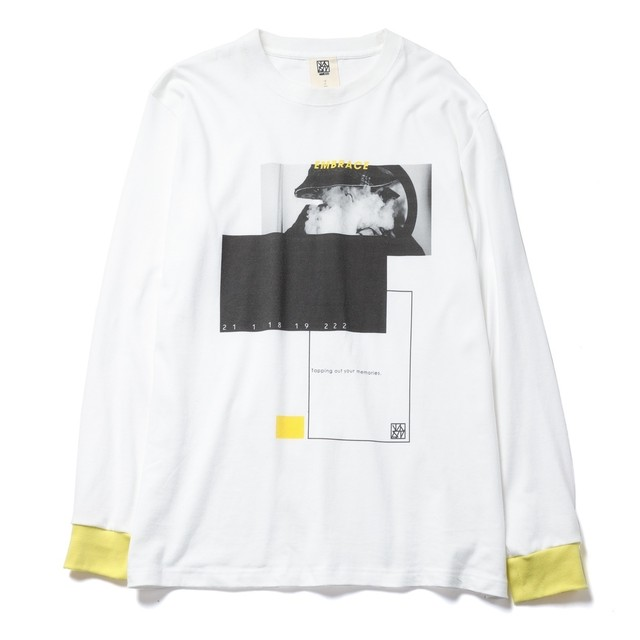 vast222   EMBRACE L/S  TEE White