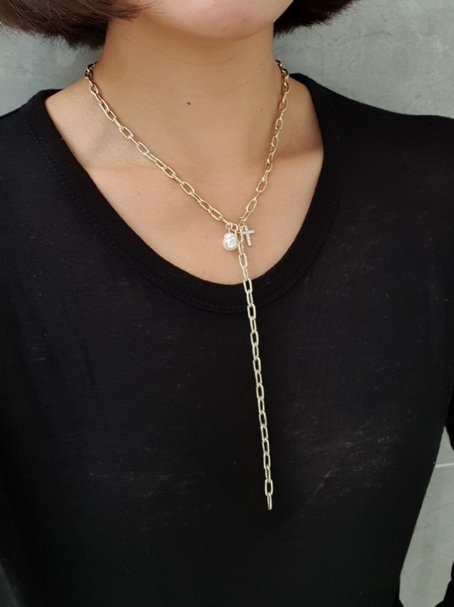 Gスティックネックレス ネックレス 韓国ファッション