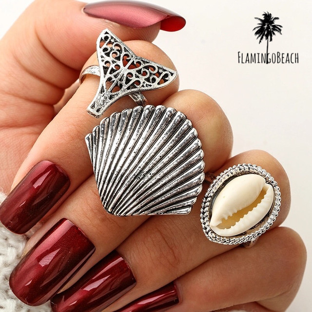 【FlamingoBeach】shell ring set リングセット