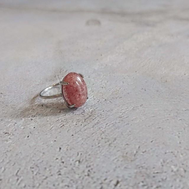 Silver925 Gem stone Ring Mosukobaito