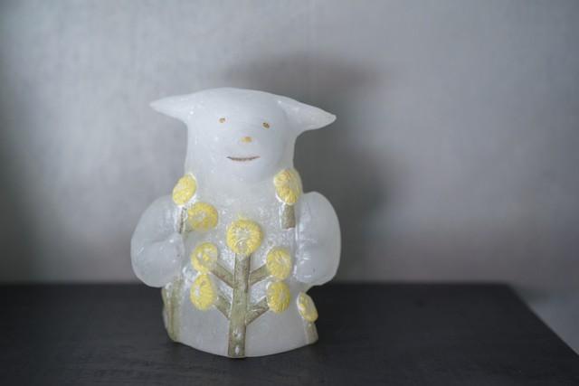 安達知江 ひつじの花器