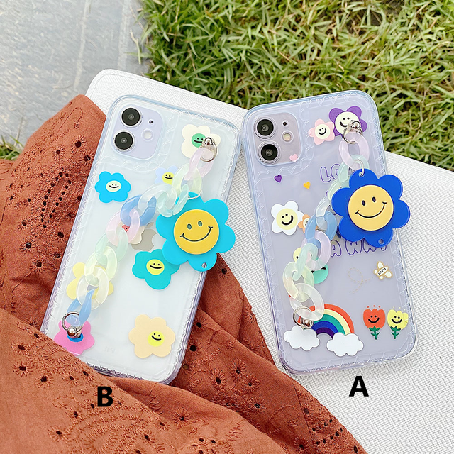 Colorful flower chain iphone case