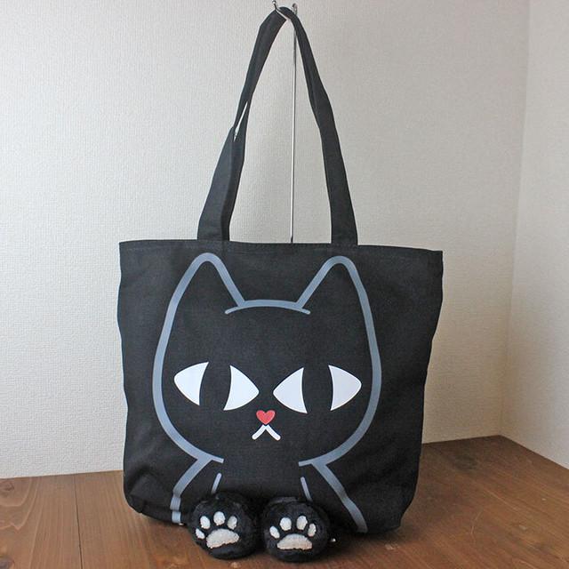 【CAT MUSIC】猫と楽譜柄に輝くラインストーン付きハンドバッグ(グレイ)【猫柄】