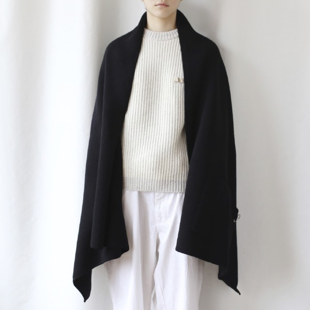 410004 Large size Stole(グリーン × グレー)