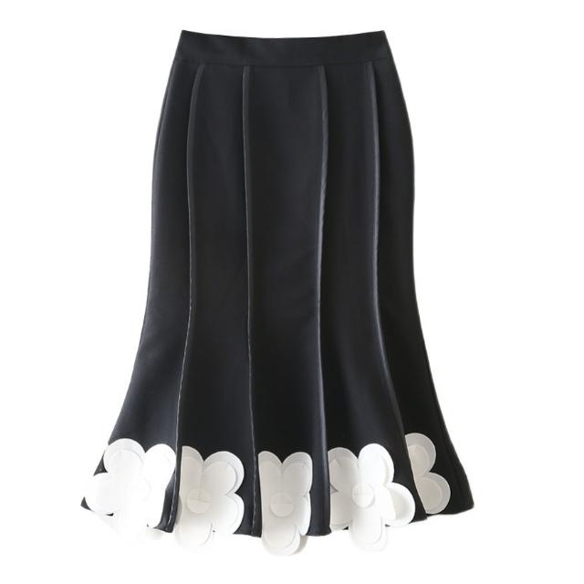 フラワー パッチワーク スカート【R0845】