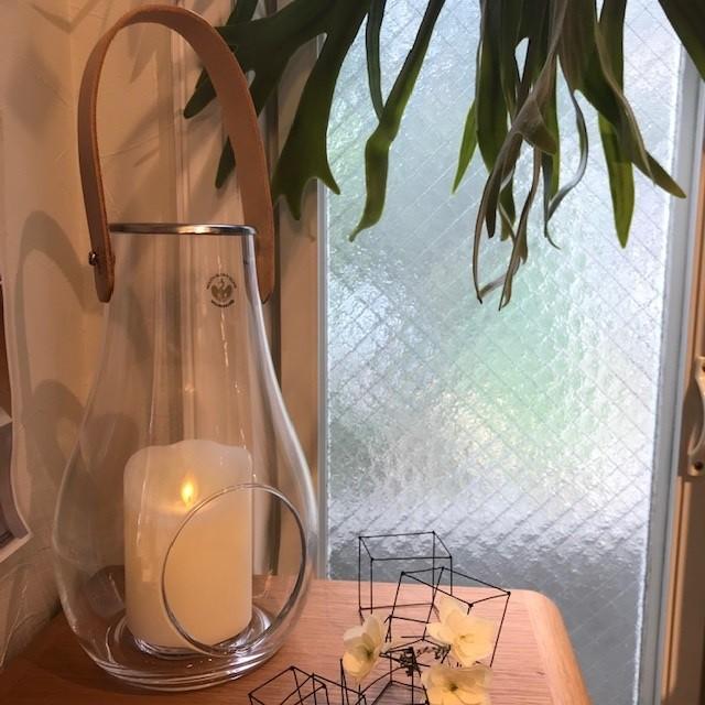 【Holmegaard(ホルムガード)】DESIGN WITH LIGHT ランタン クリア H25センチ