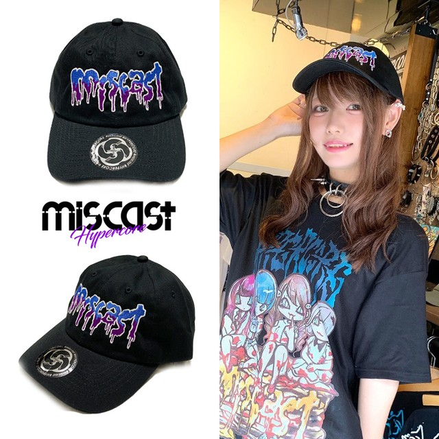 """mis-02 miscast × HYPER COREコラボレーション""""miscast on the BLOODY PANCAKE""""キャップ(青)"""