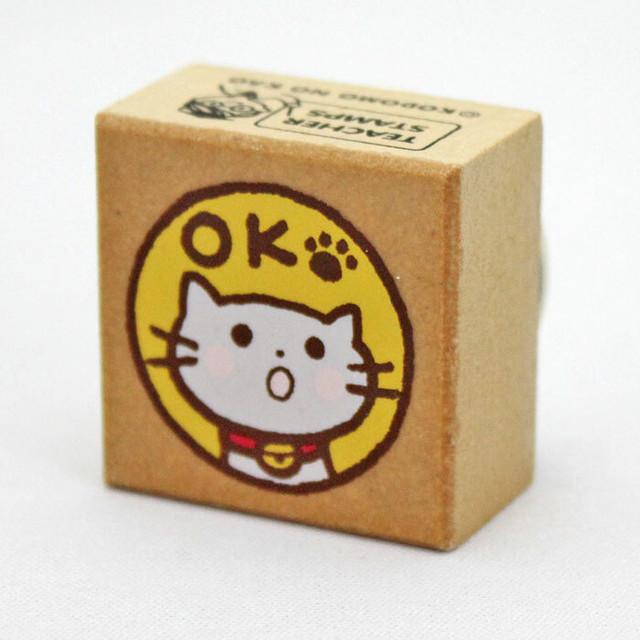 【こどものかお】ティーチャースタンプ「猫・みました!」
