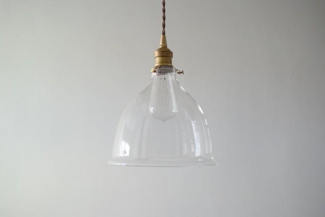 硝子ベル型照明 (※現行品です)