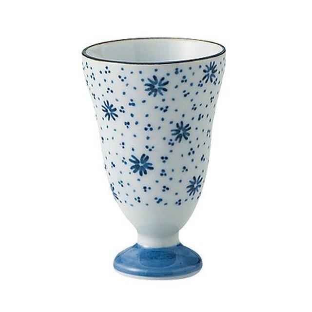 【お得な2つセット】FLOWER TIRASHI(ワイン 花柄 コップ)