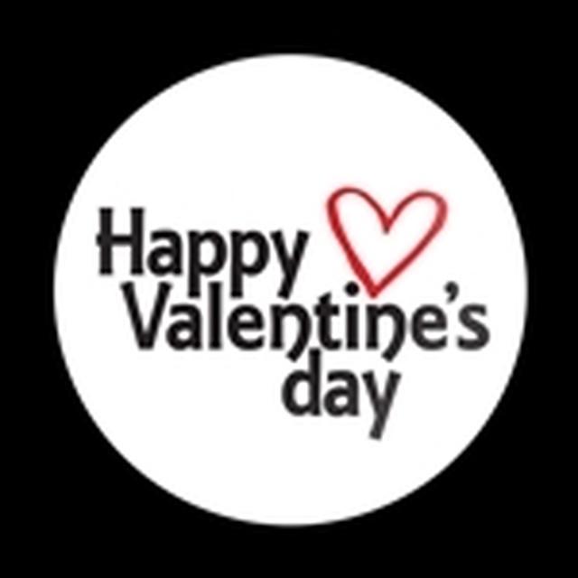 ゴーバッジ(ドーム)(CD0904 - Seasonal HAPPY VALENTINES DAY) - メイン画像
