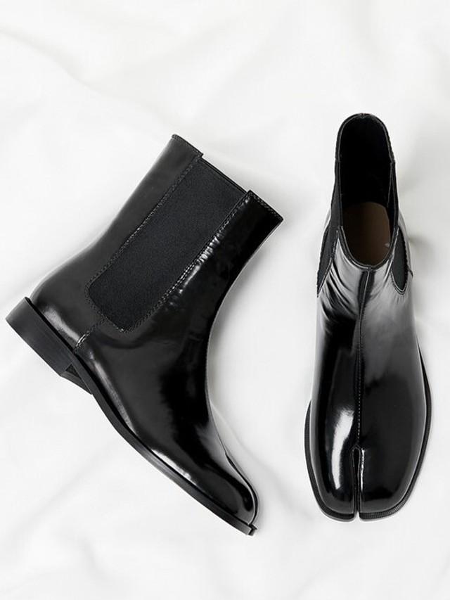サイドゴア ブリティッシュスタイル足袋ブーツ
