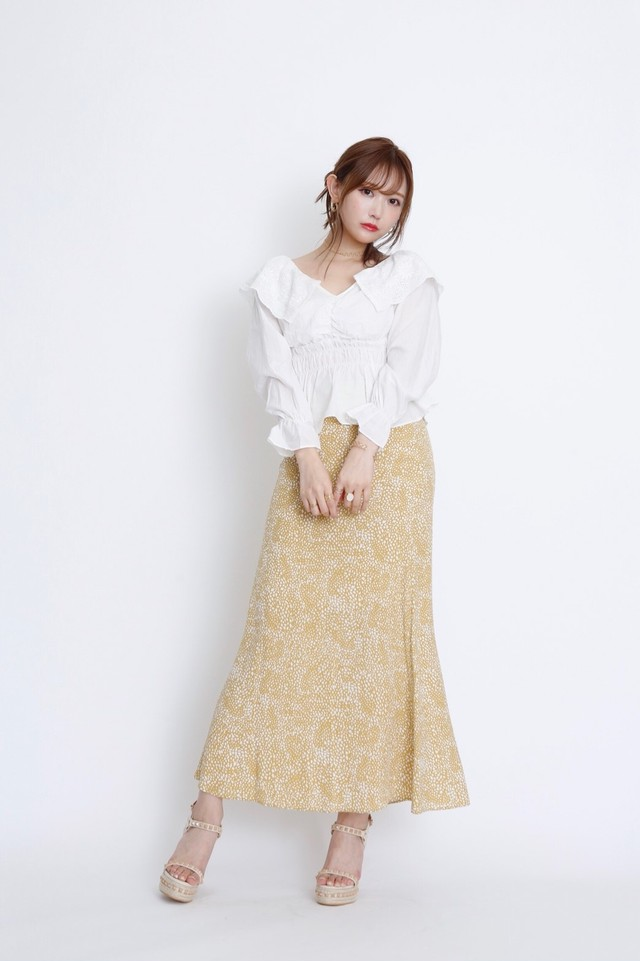 Speckled Pattern Skirt