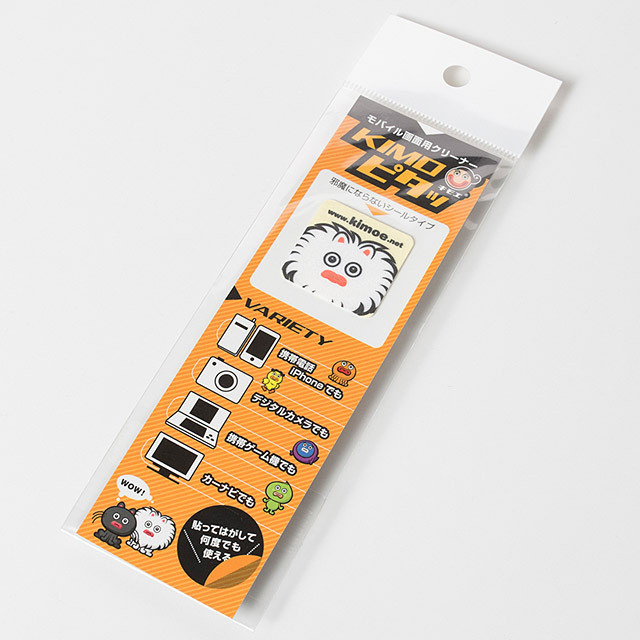 KIMOピタッ モバイル画面用クリーナー(スクエア型 ミルクちゃん)