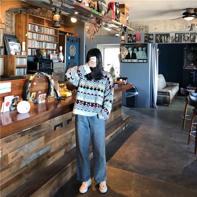長袖 ニット セーター シンプル タートルネック【17106】