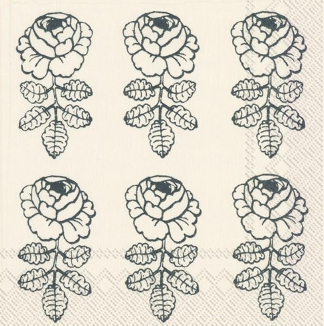 2021春夏新作【marimekko】バラ売り2枚 ランチサイズ ペーパーナプキン VIHKIRUUSU クリームxグリーン