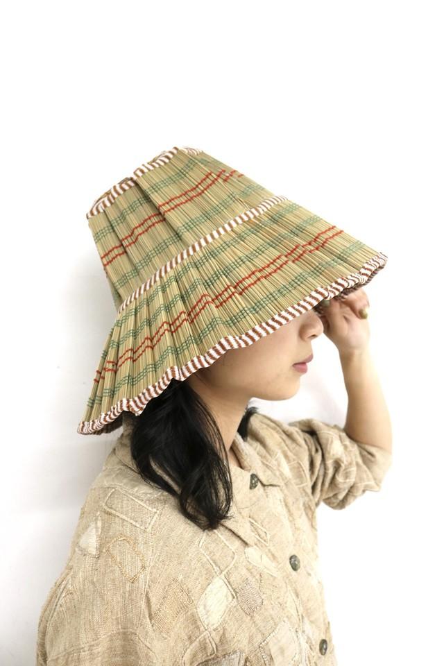handmade foldable straw hat / 4SSGD09-18