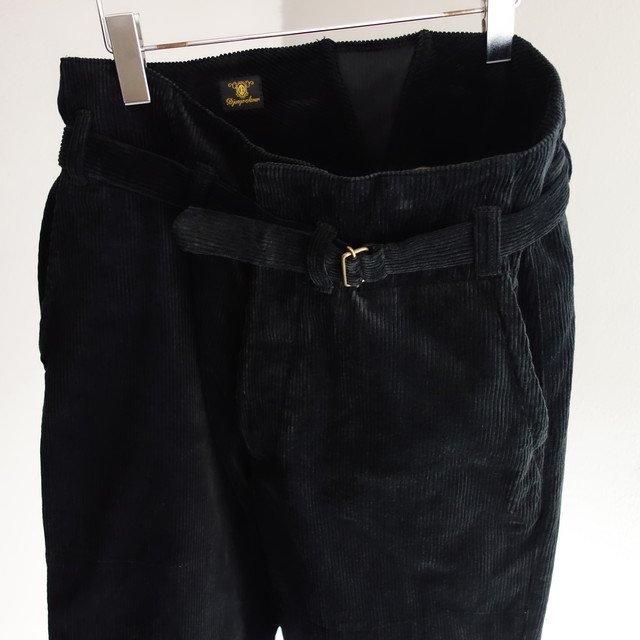 tanker work corduroy pants / black