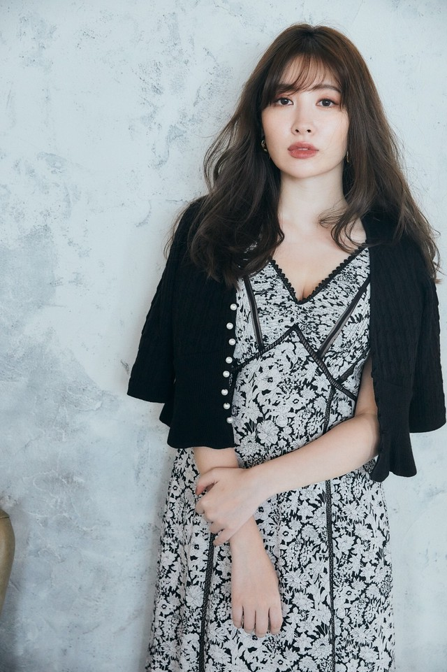 【新色】Lace Trimmed Floral Dress