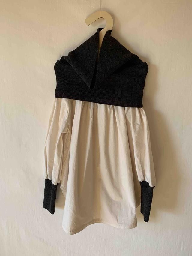 【予約8月下旬入荷】folkmade(フォークメイド)warm neck pullover ワンピース トップス