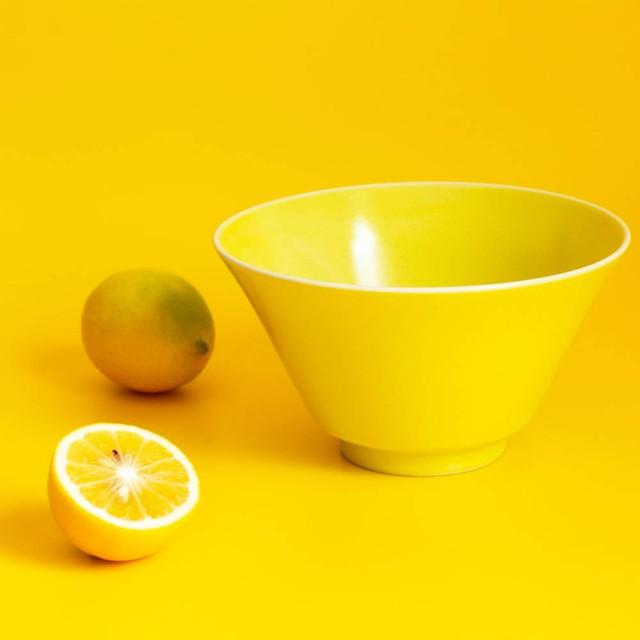 「シエル Ciel」きほんのうつわ どんぶり鉢 ボウル 皿 直径約17×深さ9.4cm イエロー 美濃焼 520117
