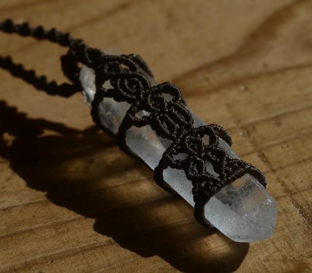レムリアンシードクリスタル原石マクラメペンダント(CASA BLESSING®︎)L07-0021