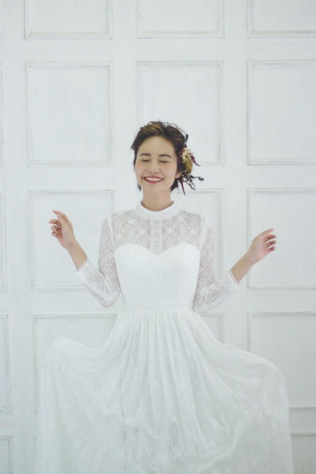 Cinnamon♡ハイネックの総レースドレス