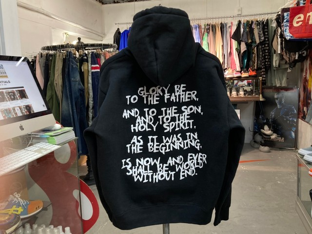 EXAMPLE MESSAGE LOGO PULLOVER HOODIE LARGE  BLACK 50KC3622