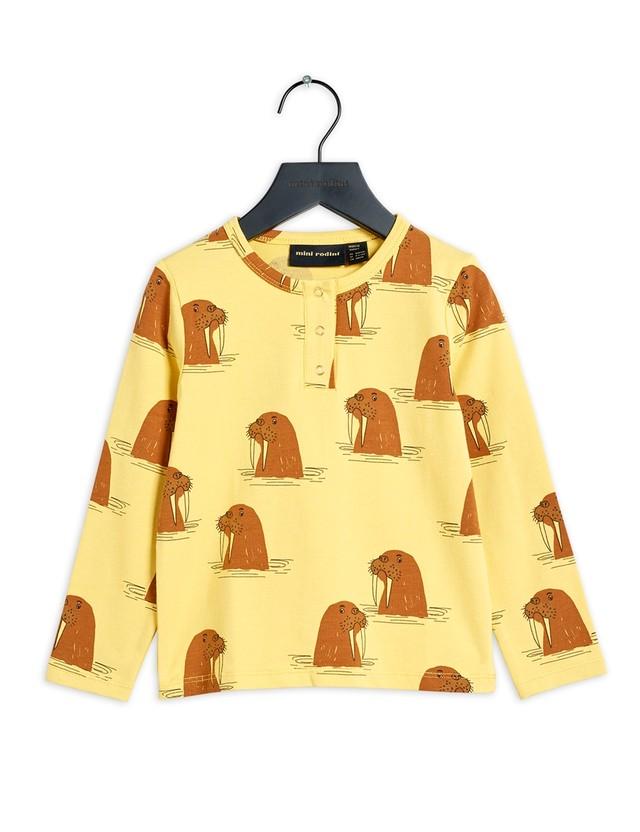 【21AW 】minirodini( ミニロディーニ )Walrus aop granps Tee Yellow 長袖Tシャツ