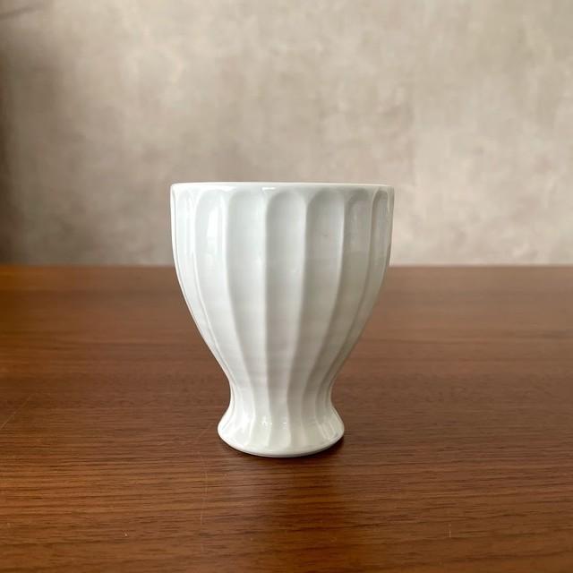 【波佐見焼】白磁手彫竹林 フィットカップ