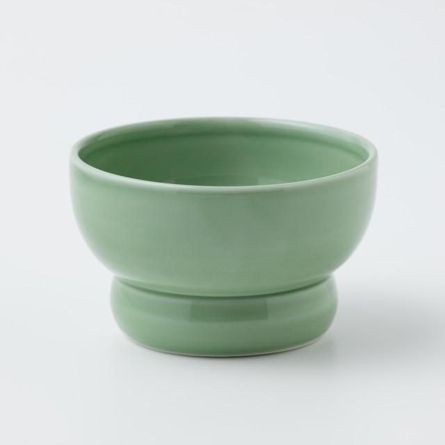 有田焼【まどか】 ロータイプ(水用) ピスタチオ  製造:江口製陶所