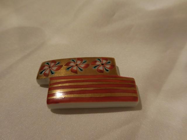陶磁器帯留 porcelain obi sash clip