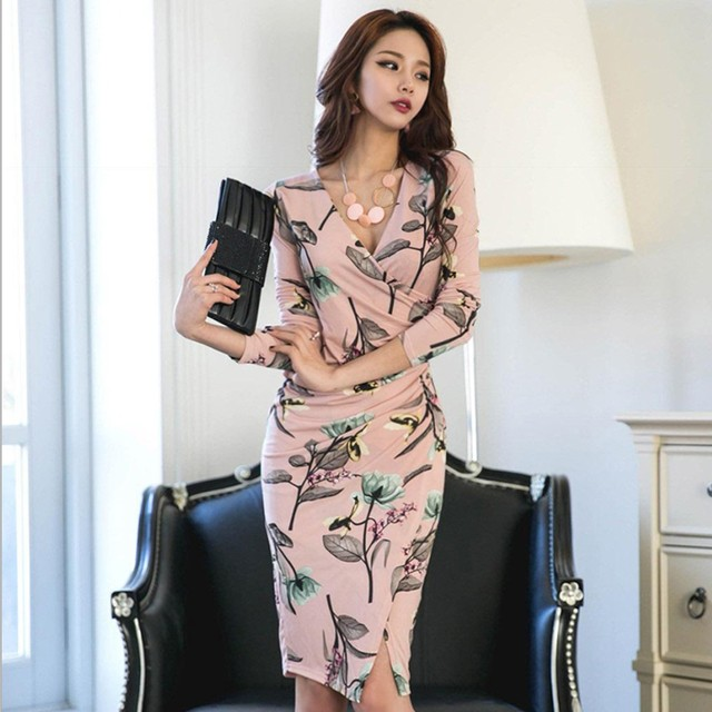 【dress】Super bargain attractive print sexy dress