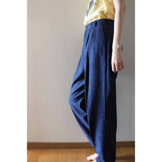 Vintage starry sky tapered slacks