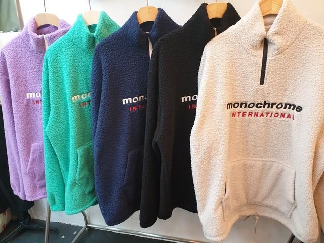 MONOもこもこジップアップ ★UNISEX ジップアップ MTM トレーナー 韓国ファッション