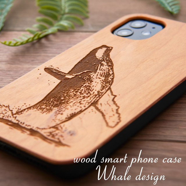 おしゃれな木製 iphoneケース 動物シリーズ くじら iphonese 第二世代 iphone11 pro かわいい iphoneXs XR 天然木 ウッドケース iphone7 クジラ 海の生き物