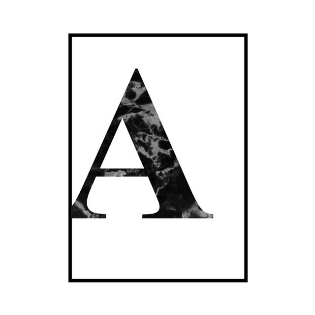 """A"" 黒大理石 - Black marble - ALPHAシリーズ [SD-000502] B3サイズ ポスター単品"