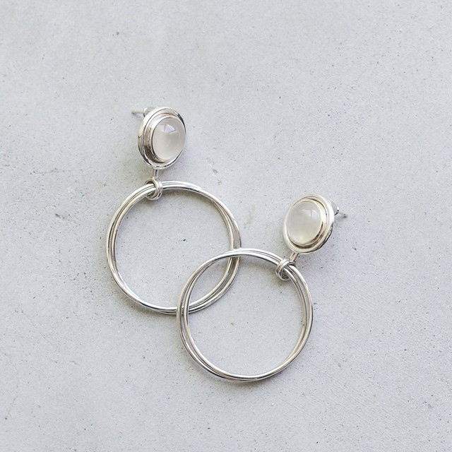 moonstone big circle pierce