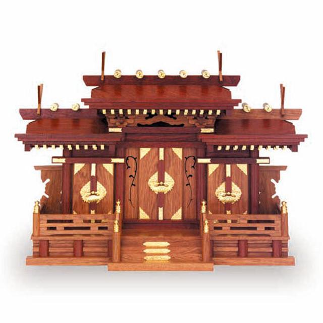 花梨三ツ屋根三社(小)