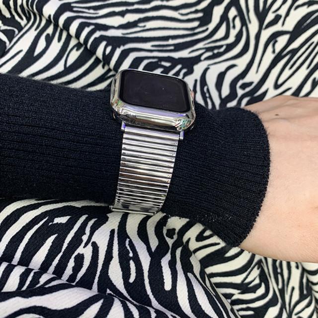 Apple Watch フレームカバー付き バンド ベルト 4カラー aw105