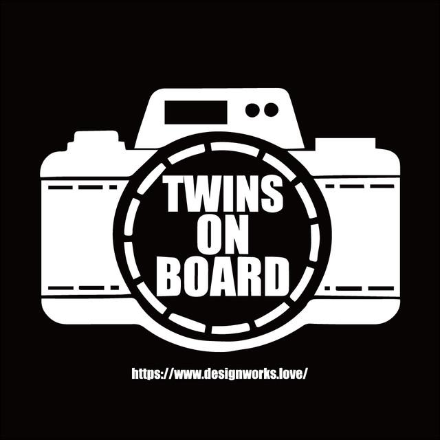 全10色 TWINS ON BOARD カメラ ステッカー